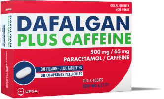 Dafalgan Plus Caffeine 500mg/65mg - 30 tabletten